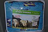 Одеяло закрытое овечья шерсть (Поликоттон) Двуспальное Евро T-51074, фото 2