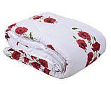 Одеяло закрытое овечья шерсть (Поликоттон) Двуспальное Евро T-51075, фото 2