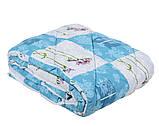 Одеяло закрытое овечья шерсть (Поликоттон) Двуспальное Евро T-51075, фото 7
