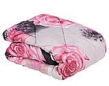 Одеяло закрытое овечья шерсть (Поликоттон) Двуспальное Евро T-51075, фото 10