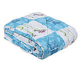 Одеяло закрытое овечья шерсть (Поликоттон) Двуспальное Евро T-51085, фото 7