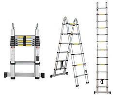 Стремянка телескопическая 2-х секционная 4,4 м TRINON-tools