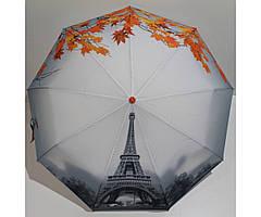 Жіночий напівавтомат зонт Антиветер 3 складання FLAGMAN Париж