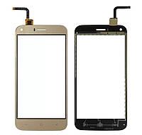 Touchscreen (сенсор) для Bravis A506 Золотий