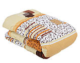 Одеяло закрытое овечья шерсть (Поликоттон) Полуторное T-51128, фото 8