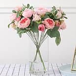 Пионовидная роза с ягодами  46 см, фото 2