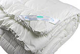 Одеяло закрытое однотонное искусственный лебяжий пух (Микрофибра) Двуспальное Евро T-55023, фото 4