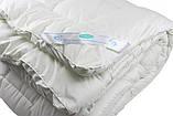 Одеяло закрытое однотонное искусственный лебяжий пух (Микрофибра) Полуторное T-55028, фото 4