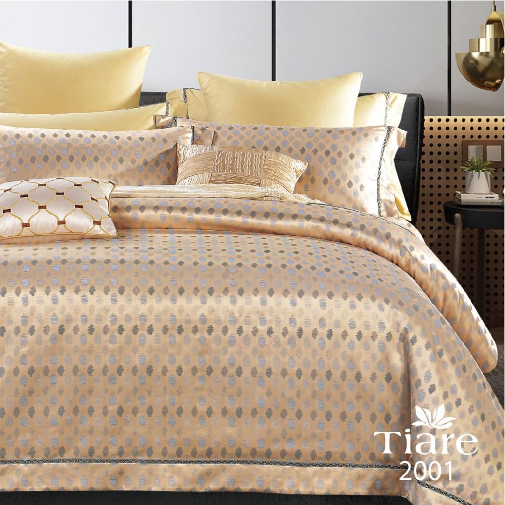 Семейный Комплект постельного белья Viluta Сатин Жаккард Tiare 2001