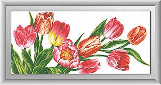 Набор алмазной мозаики Красота тюльпанов 123х56см