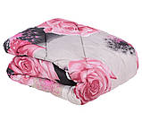 Одеяло летнее холлофайбер одинарное (поликоттон) Двуспальное Евро T-54509, фото 10