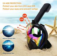 Маска полнолицевая с защитой от солнца World Sport зеркалка