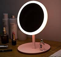 Настольное зеркало c LED подсветкой для макияжа круглое USB Mirror Perfection