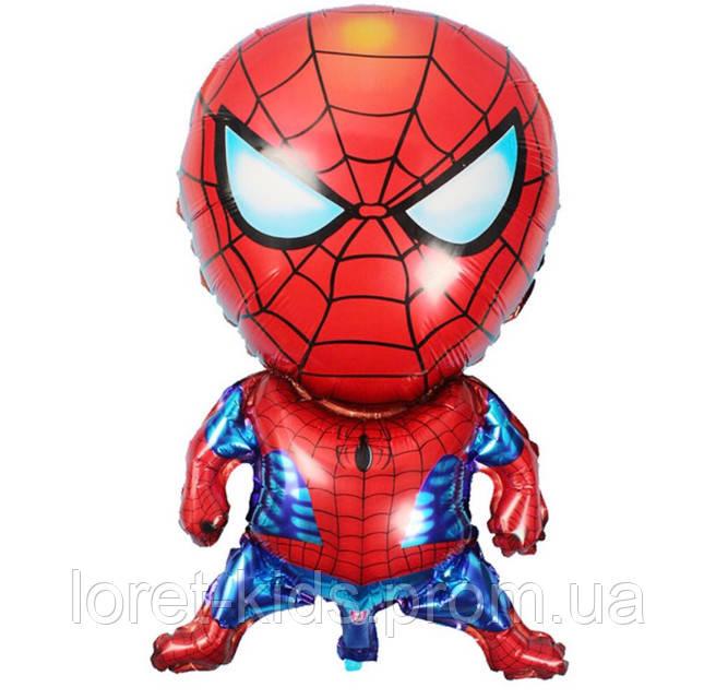 Фольгированный воздушный шарик Человек Паук 70х45 см