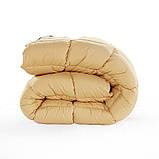 Ковдра літня холлофайбер одинарне однотонне з візерунком (Мікрофібра) Двоспальне Євро T-54838, фото 4