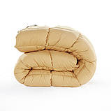 Одеяло летнее холлофайбер одинарное однотонное с узором (Микрофибра) Двуспальное Евро T-54838, фото 4