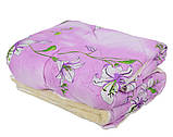 Одеяло Открытое овечья шерсть (Поликоттон) Двуспальное Евро T-51251, фото 4