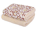Одеяло Открытое овечья шерсть (Поликоттон) Двуспальное Евро T-51251, фото 5