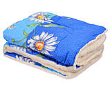 Одеяло Открытое овечья шерсть (Поликоттон) Двуспальное Евро T-51251, фото 6