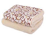 Одеяло Открытое овечья шерсть (Поликоттон) Двуспальное Евро T-51255, фото 5