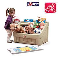 """Комод для игрушек и детская доска для рисования """"BOX & ART"""", цвет желто-коричневый"""