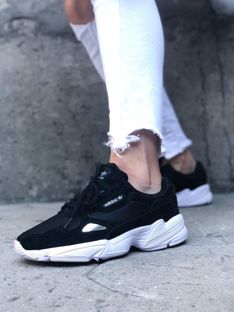 Кроссовки Adidas Falcon Black White, кроссовки адидас фалкон (41,42,44 размеры в наличии)