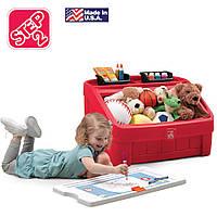 """Комод для игрушек и детская доска для рисования """"BOX & ART"""", цвет красный"""