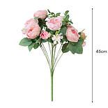 Пионовидная роза с ягодами  46 см, фото 7