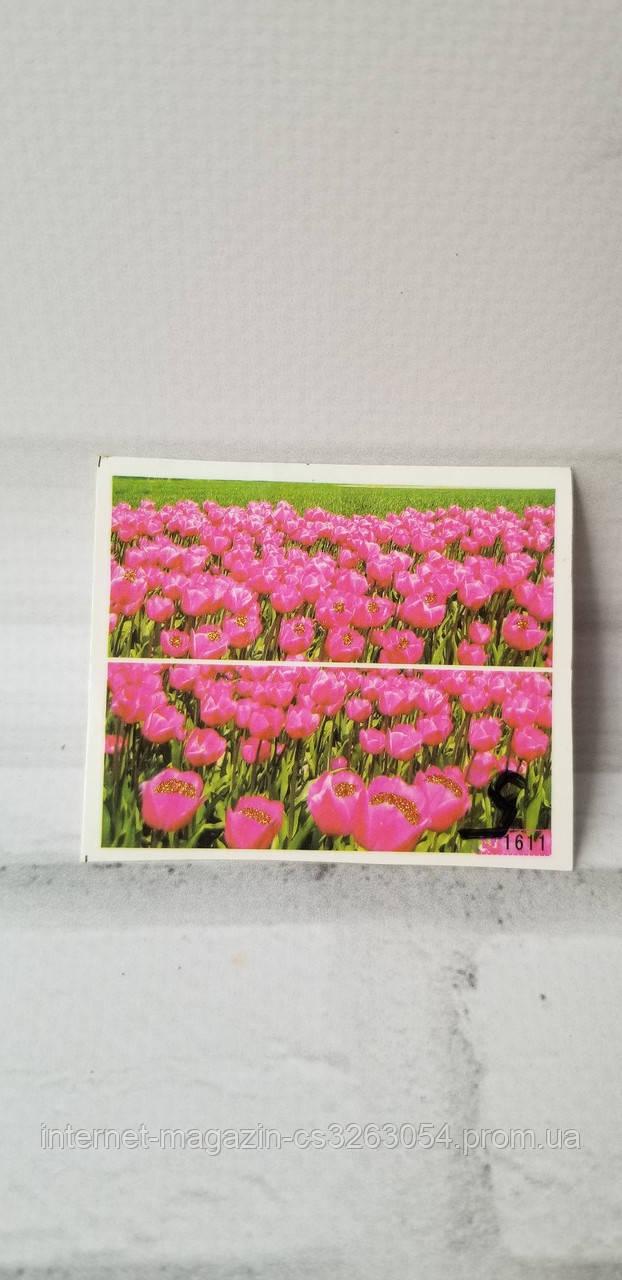 Водные наклейки для ногтей цветы,наклейки для маникюра цветные
