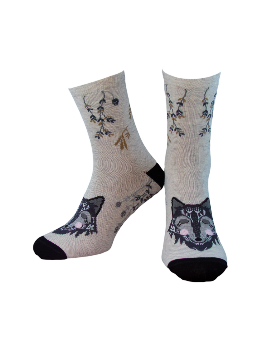 Носки женские Дюна 3130 Серо-бежевые