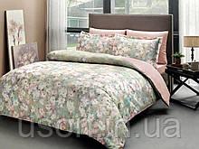 Комплект постельного белья сатин Tac digital евро Jamie pudra
