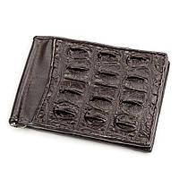 Зажим Ekzotic Leather из натуральной кожи крокодила Коричневый