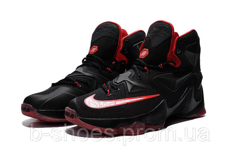 Мужские баскетбольные кроссовки Nike Lebron 13 (Black\Red)
