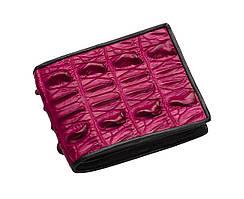 Портмоне из кожи крокодила Ekzotic leather Розовое (cw06)