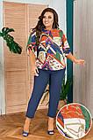 Шикарный женский летний костюм:блуза и брюки,размеры:48-50,52-54,56-58., фото 7