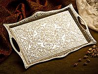 Поднос Sena прямоугольный серебристый 27х35 см, фото 1