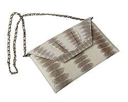 Клатч из кожи морской змеи  Ekzotic Leather Белый (snc 08_1)
