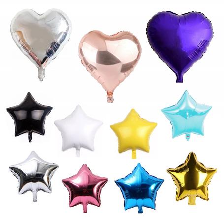 Фольгированные Звезды, Сердца, Сферы, Месяц