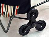 Сумка-тележка со стулом - дорожная сумка на колесах (синяя), фото 5