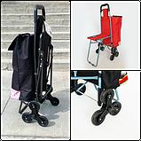 Сумка-тележка со стулом - дорожная сумка на колесах (синяя), фото 3