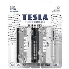 Батарейка Tesla SILVER+ D (LR20) 2 шт.