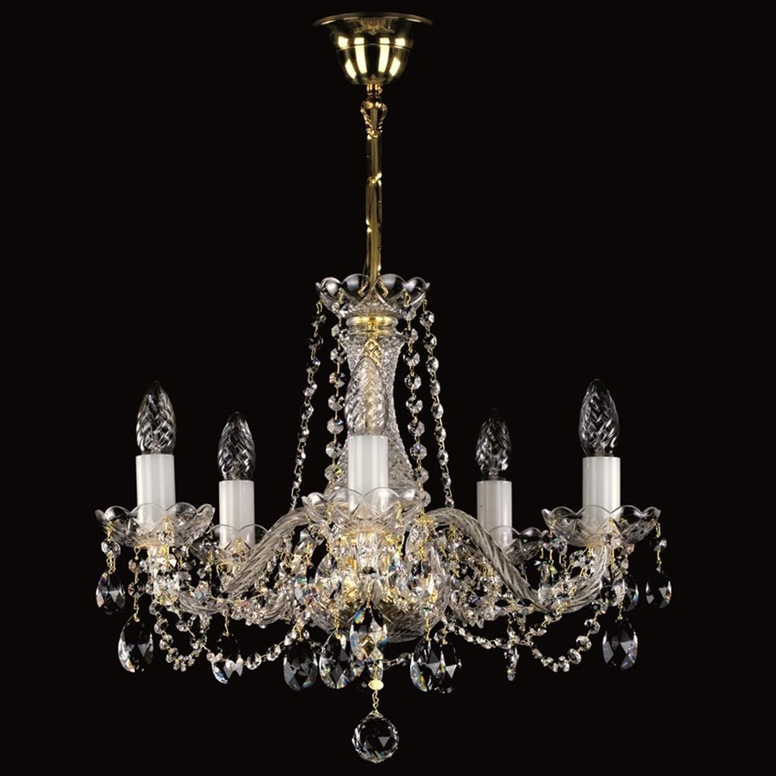 Хрустальная 5 ламповая люстра для спальни, зала  Радка-5