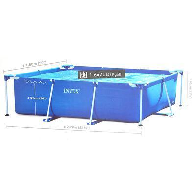 Бассейн каркасный Intex 1662л /220*150*60 см