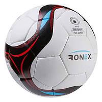 Мяч футбольный Grippy Ronex-JM5 №5, красно/черный