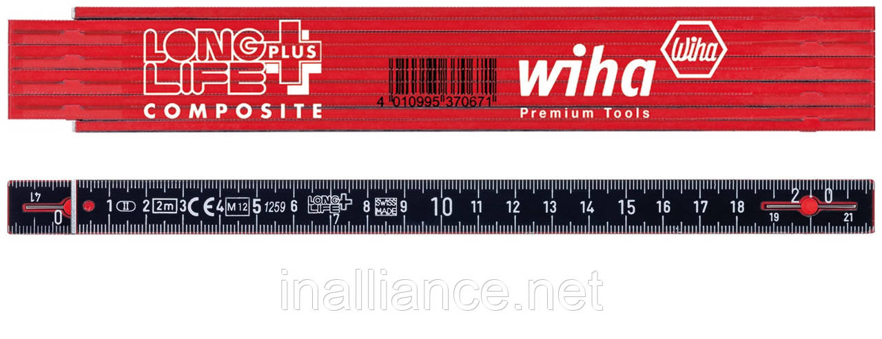 Складаний метр Longlife Plus Composite Wiha 37067