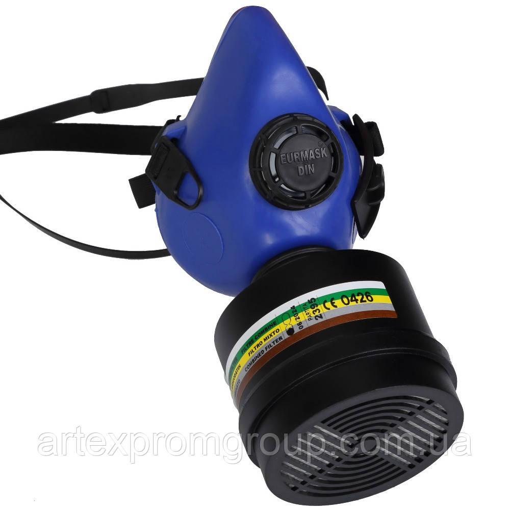 Полумаска DIN Eurmask 7355 с фильтром A2B2E2K2P3