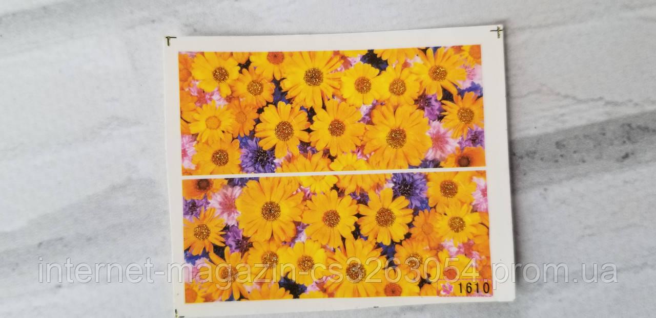Водные наклейки для ногтей,цветы наклейки для маникюра цветные,слайдер наклейки