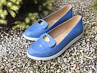 Туфлі жіночі з натуральної шкіри (лак) 37, 38 роз.