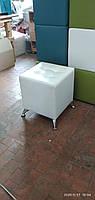 Пуфик Классик-1 Белый,пуфик,пуфики,пуф кожзам,пуф экокожа,банкетка,банкетки,пуф куб,пуф фото, фото 3