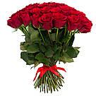 Букет с доставкой 3-101 свежие бордовые розы Кривой Рог, фото 7